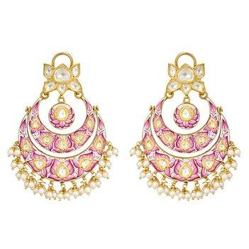 August Pearl and Polki Diamond Chaandbalis