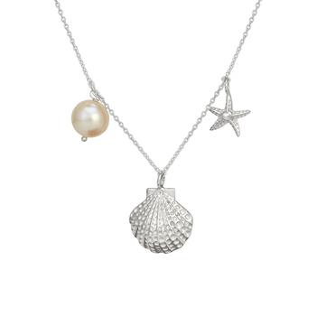 Aquatic Pearl 925 Sterling Silver Pendant