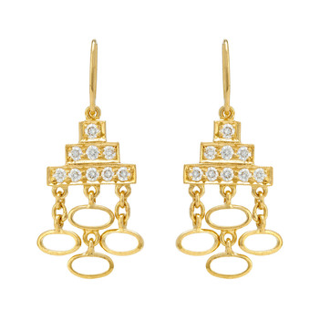 Bohemian Diamond and 18k Gold Dangler Earrings