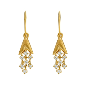 Ritzy Diamond and 18k Gold Dangler Earrings