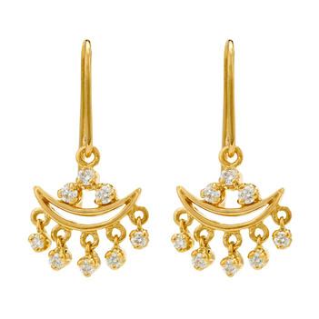 Riveting Diamond and 18K Gold Drop Earrings
