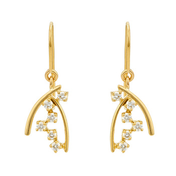 Neoteric Diamond and 18K Gold Drop Earrings