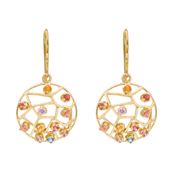 Riotous Multi Sapphire 18K Gold Earrings