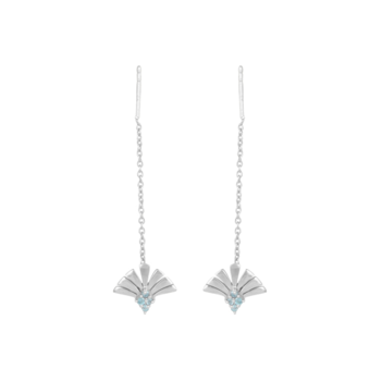 Dreamy Blue Topaz and 925 Sterling Silver Needle and Thread Earrings