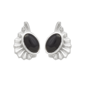 Askew Black Onyx and 925 Sterling Silver Studs