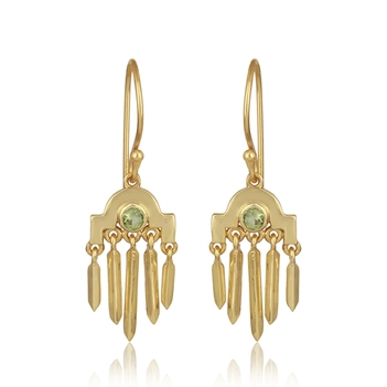 Chandelier Peridot and 925 Sterling Silver Earrings