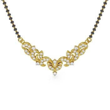 22K Gold Classic Diamond Mangalsutra