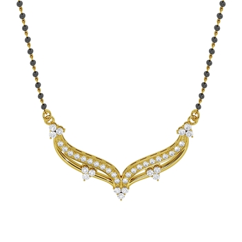 18K Gold Quintessential Diamond Mangalsutra