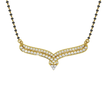 Time-honoured Diamond Mangalsutra in 18K Gold