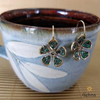 Striking Tsavorite and Diamond Earrings