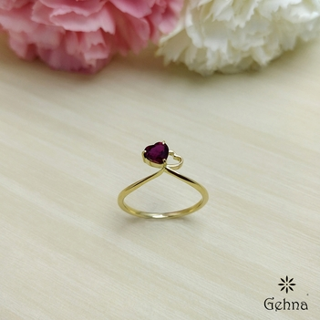 Luscious Heart Shaped Ruby Ring