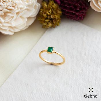 Dapper Square Emerald Ring