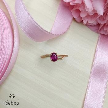 Bonny 18K Rose Gold Ruby Ring