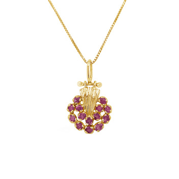 Sanguine Ruby and 18K Gold Pendant