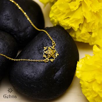 Floral Mandala 18K Gold Bracelet