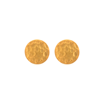 Textured Yellow Gold Studs