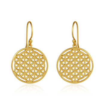 Playful Sterling Silver Gold Finish Earrings