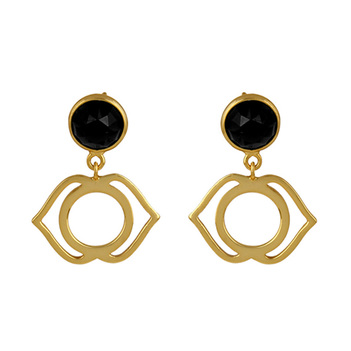 Sterling Silver Black Onyx Drop Earring