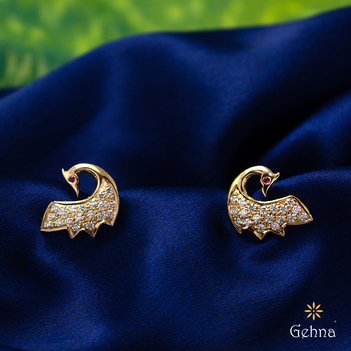 Debonair 18K Gold and Diamond Studs