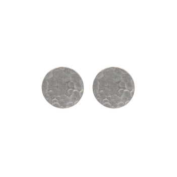 Hammered White Gold Studs