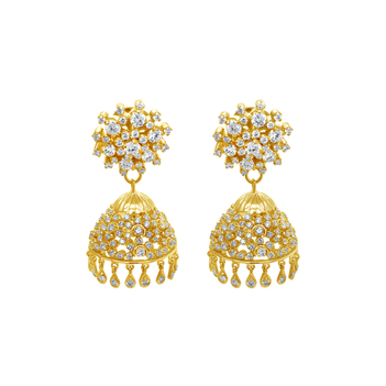 Delicate 18K Gold & Diamond Jhumki
