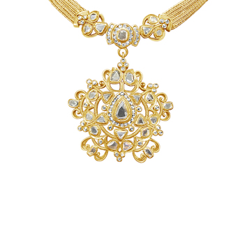 18K Rose Cut Diamond Pendant