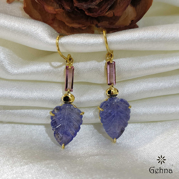 Sparkling Tanzanite and 18K Gold Earrings