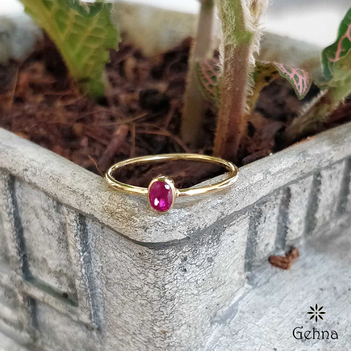 Eclectic Ruby 18K Gold Ring