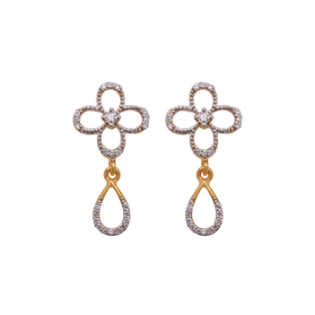 True Beauty Diamond Dangler 18K Gold Earrings