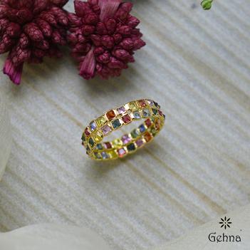 Evergreen Multi-Sapphire Eternity Ring