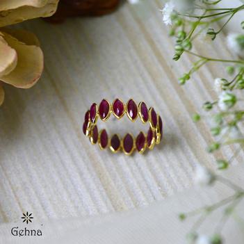 Brilliant Love Ruby 18K Gold Eternity Ring