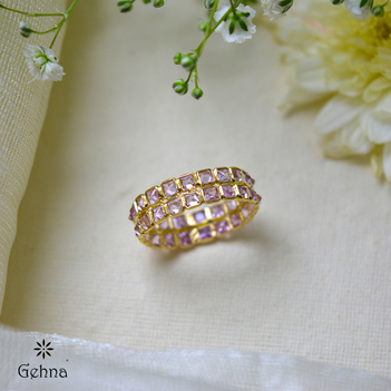 Pink Sapphire Forever Eternity Ring