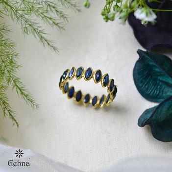 Infinite Grace Sapphire 18K Gold Eternity Ring