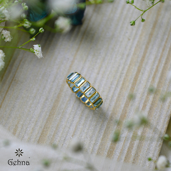 Now and Forever Swiss Blue Topaz Eternity Ring