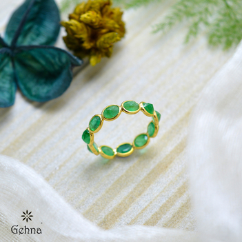 A Union of Beauty Emerald Eternity Ring