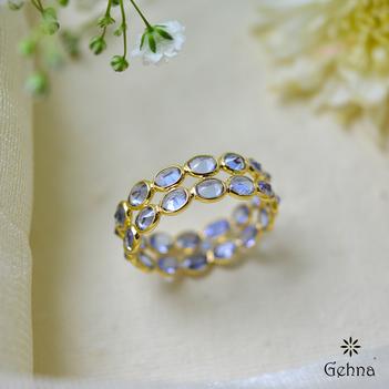 Twice the Beauty Tanzanite Eternity Ring