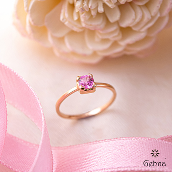 Enamouring Pink Sapphire 18K Rose Gold Ring