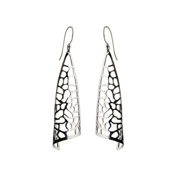 Coral Reef Silver Earrings