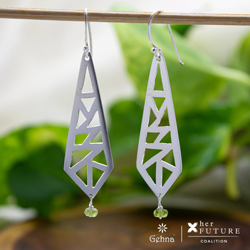 Invisible World Silver Drop Earrings