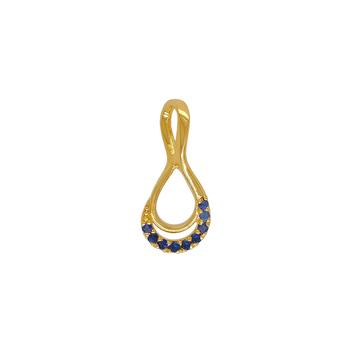 Radiant Blue Sapphire 18K Gold Pendant