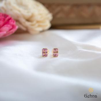 Precious Pink Tourmaline 18K Gold Earrings