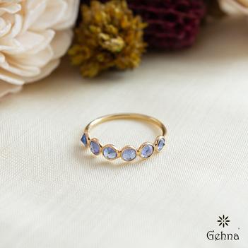 Regal Tanzanite Gold Ring
