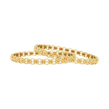 Floral 22K Gold Bangle  (2'6 Size & 1pair)