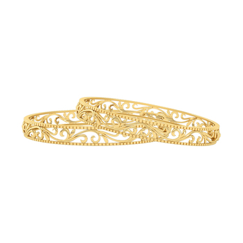 Enigmatic 22K Yellow Gold Bangle (2'6 Size & 1pair)