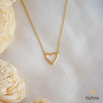 Amour Heart 18K Gold Pendant & Chain (16 inches)